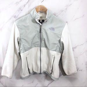 The North Face White & Grey Denali Fleece Jacket